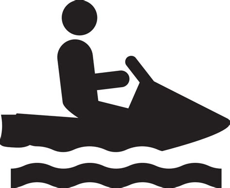 sw man jet boat free vector graphic jet ski sign icon water sports
