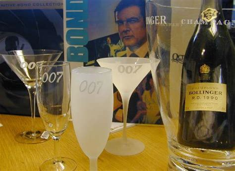 james bond glass 007 design glass chagne