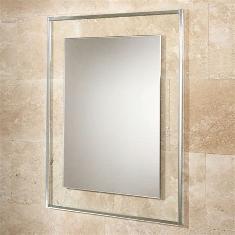 mirror borders bathroom hib bala rectangular bathroom mirror with clear glass