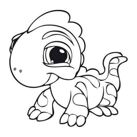 cute lizard coloring pages baby iguana from free littlest pet shop coloring pages to