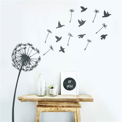 wall and stickers dandelion wall sticker by oakdene designs notonthehighstreet