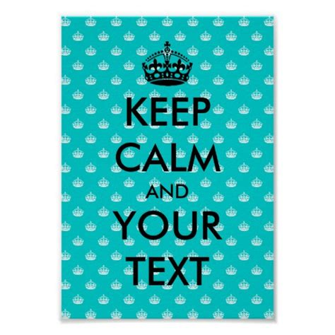 design free keep calm poster keep calm poster template with crown pattern zazzle