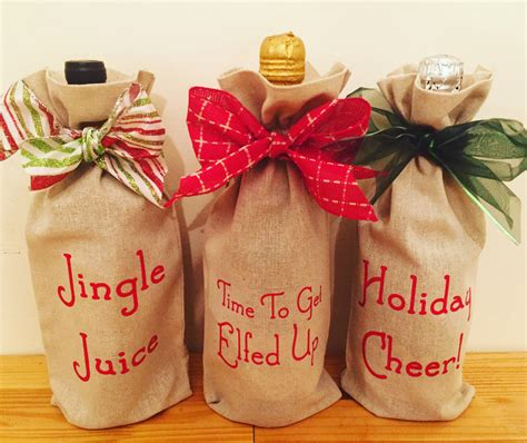 holiday wine tote wine gift bag christmas by
