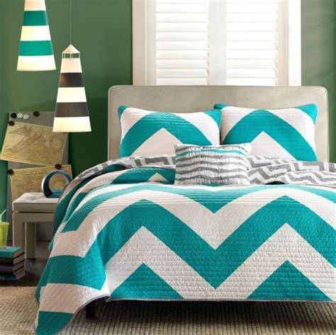 What Is A Coverlet Teal by Teal Chevron Bedding Overstock 89 Selena S Stuff