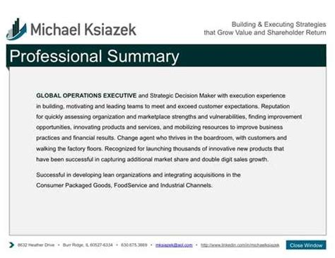 Resume Professional Summary by A Professional Resume Summary Helps Get Your Resume Read