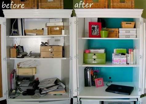 before and after organizing desk disgrace to desk delight space for living