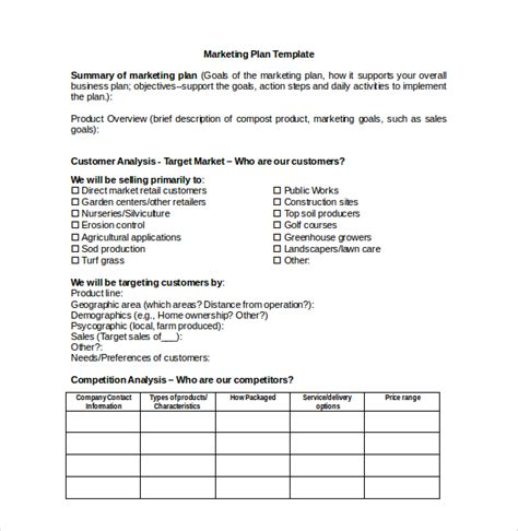 marketing plan template 18 marketing plan templates free word pdf excel ppt