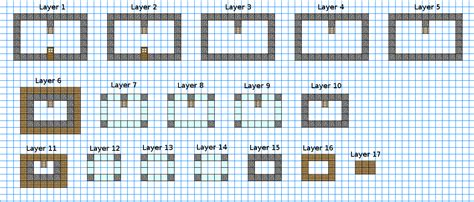 minecraft house blueprints layer by layer observatory keep blueprints minecraft constuctions wiki