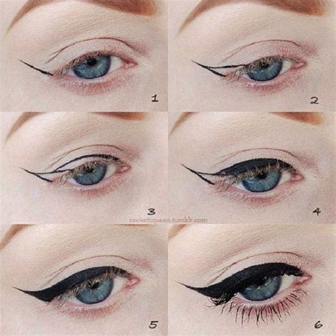 tutorial on eyeliner application cat eye makeup ideas tips and tutorial