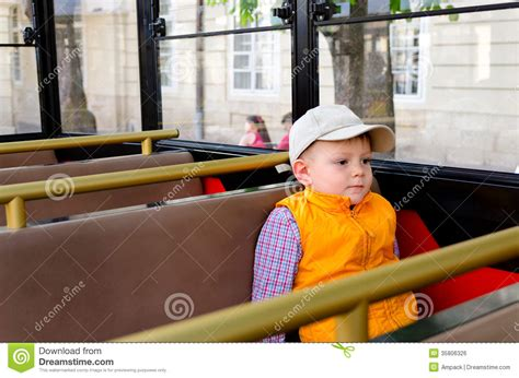 Interior Design Web App little boy sitting alone in a bus royalty free stock image