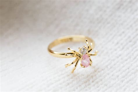 inca cz spider ring jewelry ring stacking ring stack ring