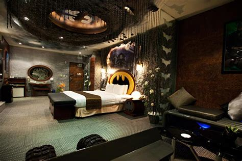 batman decorations for bedroom batman hotel room at eden motel in taiwan hiconsumption