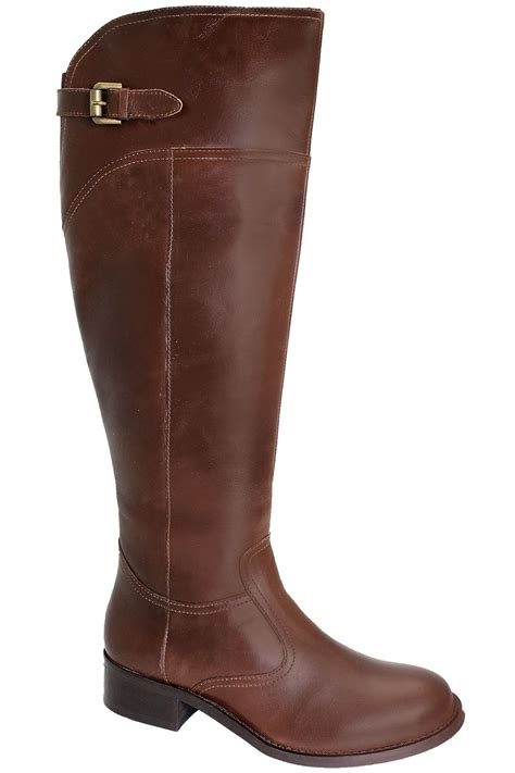 knee high genuine leather boots s small heel