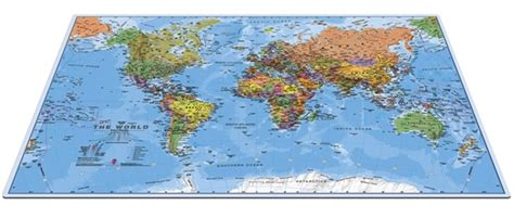 World Desk Mat by World Desk Map Mouse Mat Largemap Gifts