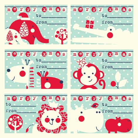 christmas design name tags gift tag designs spoonflower design challenge