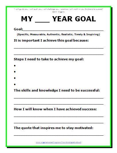 Goals Worksheet by 9 Best Images Of Goal Setting Printable Worksheet