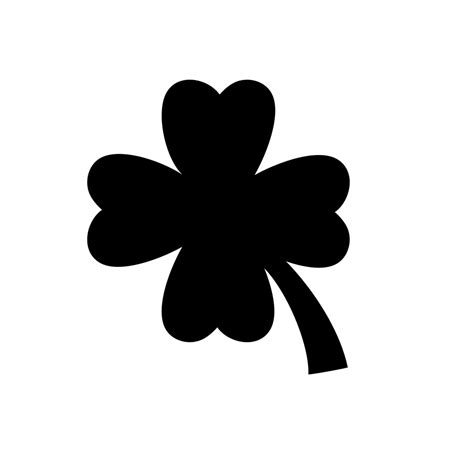 simple lucky clover quarter mark stencil