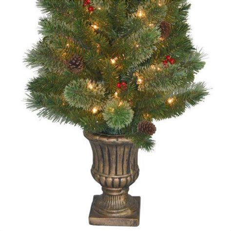 artificial christmas trees 4 5 feet tall most realistic national tree company 4 5 ft cashmere cone and berry