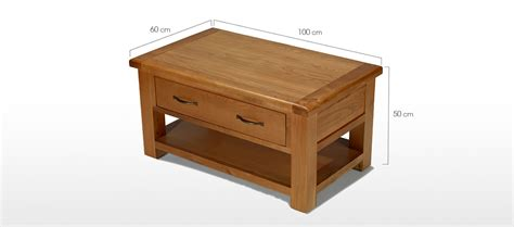 Oak Coffee Tables With Drawers Barham Oak Coffee Table With 2 Drawers Quercus Living