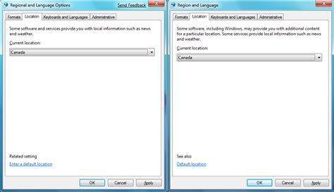 region and language side by side ui changes from windows 7 beta to windows 7