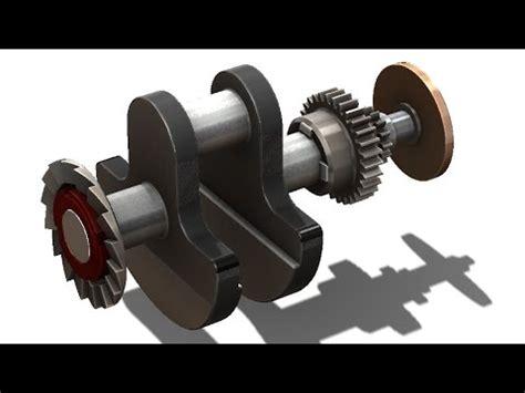 solidworks tutorial crankshaft solidworks tutorial 256 crankshaft 2 complete youtube