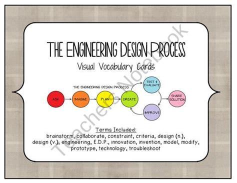 stem  engineering design process visual vocabulary cards  cokerfamily
