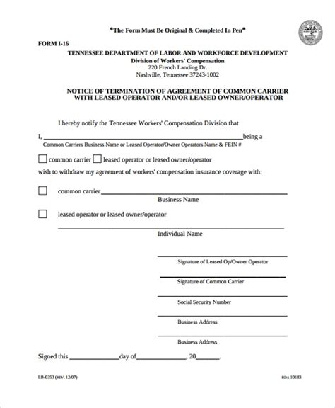 15 Owner Operator Lease Agreements Word Pdf Sle Templates Trucking Company Lease Agreement Template