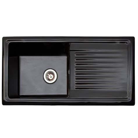 Black Ceramic Kitchen Sinks Reginox Black Ceramic 1 0 Bowl Kitchen Sink Rl404cb At Plumbing Uk