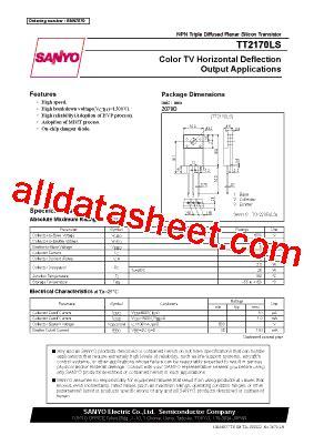transistor tt2170 datasheet tt2170ls datasheet pdf sanyo semicon device