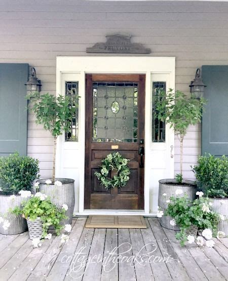 front porch ideas  summer hanging baskets