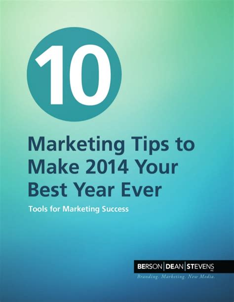 10 marketing tips to make 2014 your best year ever