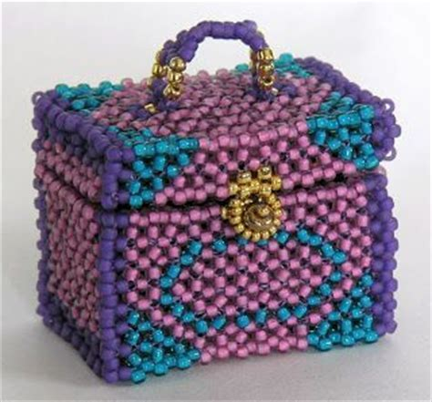 beaded boxes pin by de on beaded boxes bags vessels