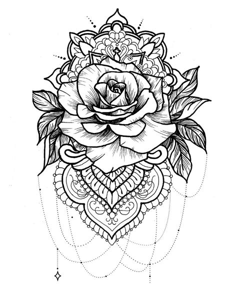 mandala to download free rose simple mandalas 100