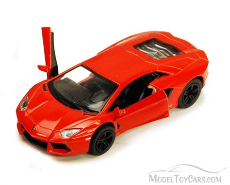 Model Car Lamborghini Aventador Lamborghini Aventador Lp700 4 Orange Kinsmart 5355d 1