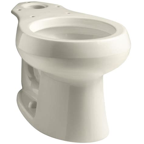 kohler wellworth toilet comfort height shop kohler wellworth almond round height toilet bowl at