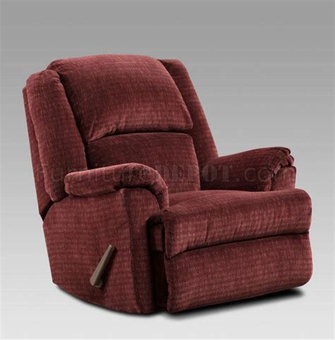 Modern Fabric Recliners by Wine Fabric Modern Chaise Rocker Recliner