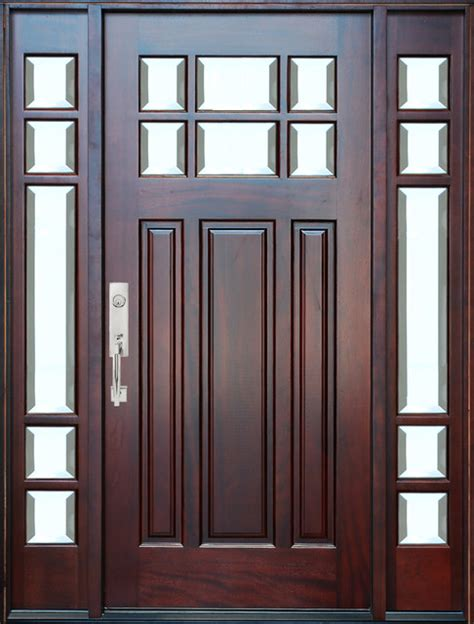 Home Depot Front Doors With Sidelights by Bgw M36 Mahogany Door With Sidelights