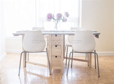 Foldable Dining Table Space Saving Apartment Dining Table Shoestring