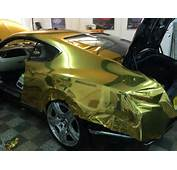 Bentley GT Vinyl Wrapped In Avery Conform Chrome Gold By Wrapping Cars