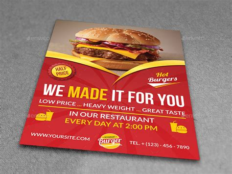 restaurant advertisement template restaurant flyer template vol 7 by owpictures graphicriver