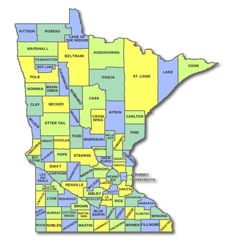 mn county map minnesota cart licensing county state and