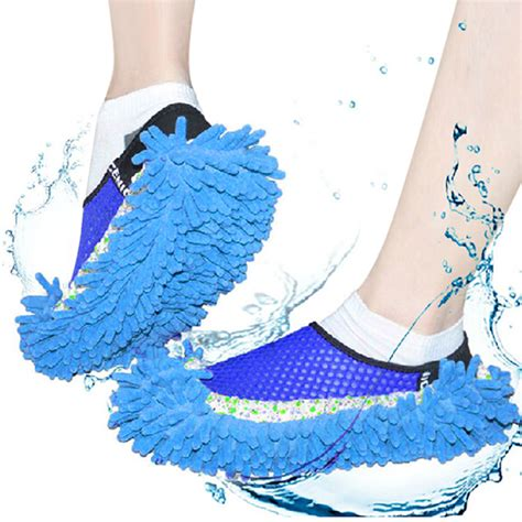 cleaning dress shoes practical chenille mop slippers dust floor cleaning