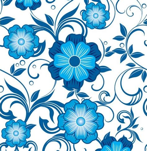 floral pattern in blue bold blue floral seamless vector pattern welovesolo
