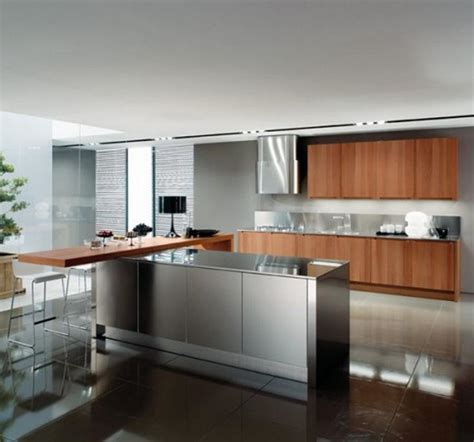 Stainless Steel Kitchen Ideas 15 Contemporary Kitchen Designs With Stainless Steel Cabinets Rilane