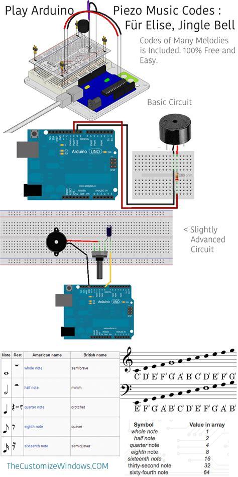 code arduino music play arduino piezo music codes f 252 r elise jingle bells