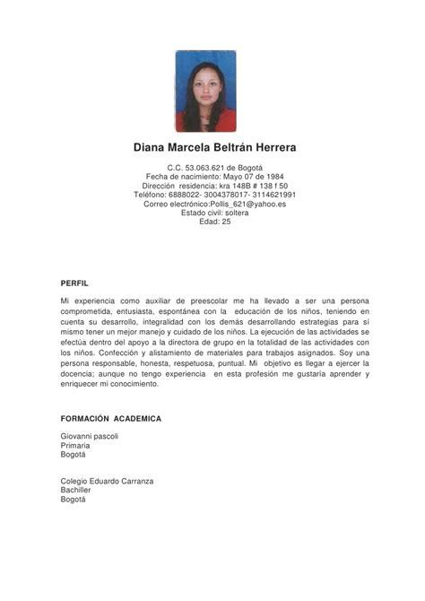 Modelo Curricular Marcela Lawler Hoja De Vida