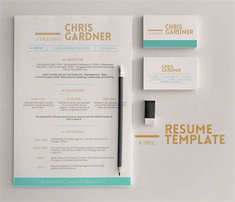 template cv tku card minimalistic free resume and business card template psd
