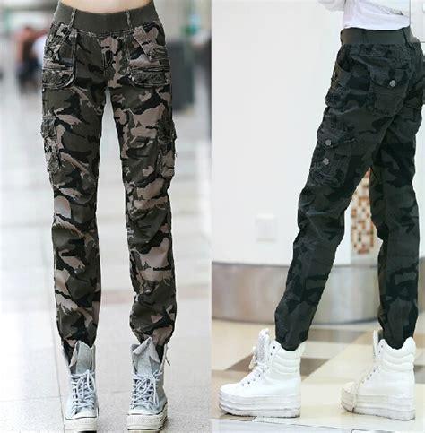Kulot Army Sw Celana Wanita Hijau Army elastis pinggang celana kargo promotion shop for
