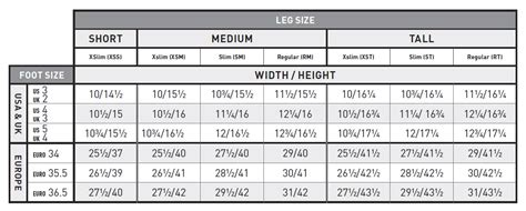 boot size chart ariat boot sizing chart