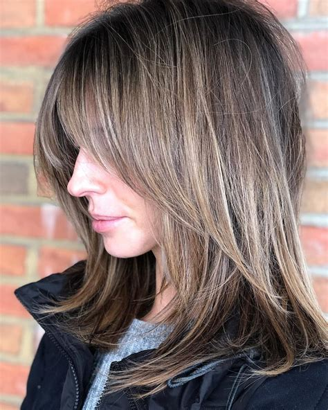 53 popular medium length hairstyles with bangs in 2019